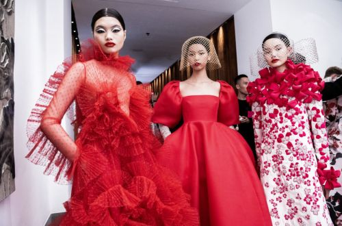 What went down at the Valentino Haute Couture Show in Beijing?