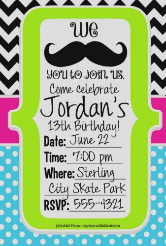 30 Beautiful Boy Birthday Party Invitation Template Images