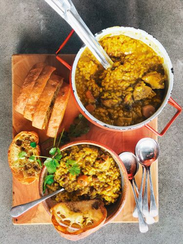 Recipe: Michael Van De Elzen's Mulligatawny with Coriander Bread