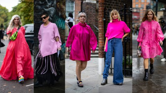 Bright Pink Ensembles Stole the Show on Day 4 of London Fashion Week