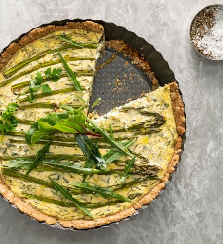 Recipe: Nadia Lim's Creamy Asparagus, Spinach, Herb and Goat's Cheese Tart