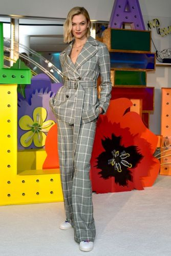 Karlie Kloss' Windowpane Suit Is the Holiday Look You Didn't Know You Needed