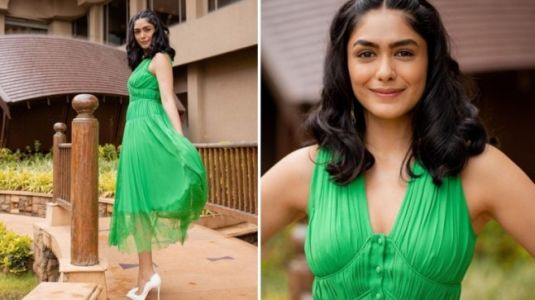 Mrunal Thakur in Rs 35k chiffon dress nails the casually chic fashion for Toofaan promotions