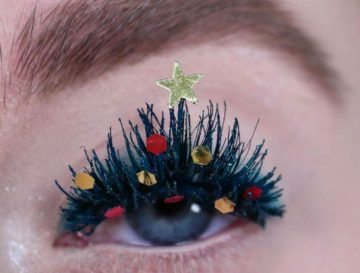 Christmas Tree Eyelashes Are The Boldest Holiday Beauty Trend Of 2019