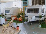 Mother-of-two opens a wacky INDOOR caravan park in Bristol where stays start from £49 per night
