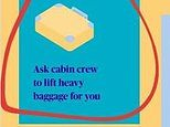 Axa apologises after advice to passengers to 'ask cabin crew to lift heavy baggage for you'